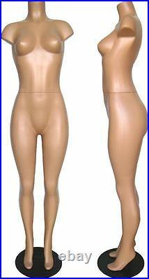 MN-236 Fleshtone Brazilian Plastic Headless Full Body Female Mannequin Form