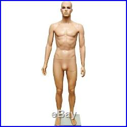 MN-251A Plastic Male Men's Full Size Mannequin with Removable Realistic Head (#G2)