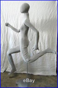 MN-402 GREY Soft Flexible Bendable Egghead Female Body Mannequin Form