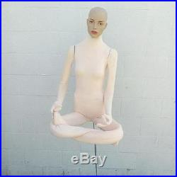 MN-404 Soft Flexible Bendable Female Body Mannequin Form with Realistic Head