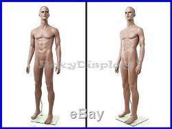 Male Fiberglass Chocolate Muscular Mannequin Dress From Display #MZ-ZEKE1