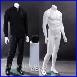 Male Fiberglass Display Mannequin Manequin Headless Dummy Dress Form #MZ-WEN5BW