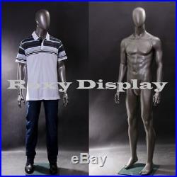 Male Fiberglass EggHead Mannequin Dress From Display #MZ-AE05