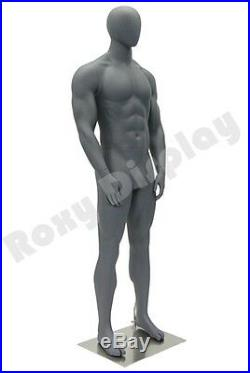 Male Fiberglass Egghead Athletic style Mannequin Dress Form Display #MZ-HEF00EG