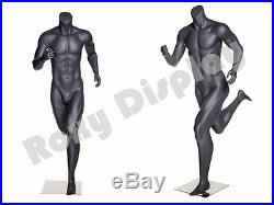 Male Fiberglass Headless Athletic style Mannequin Dress Form Display #MZ-NI-4