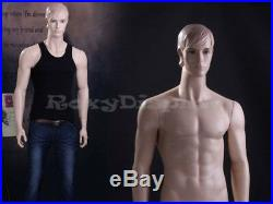 Male Fiberglass Realistic Mannequin with Molded Hair Dress From Display #MZ-WEN7