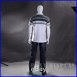 Male Fiberglass White Abstract Egg Head Mannequin Display Dress Form #MZ-WEN4EG