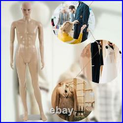 Male Full Body Realistic Mannequin Display Head Turns Dress Form wBase 185
