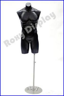 Male Manequin Mannequin Manikin Torso Form #PS-P908BK+BS-04