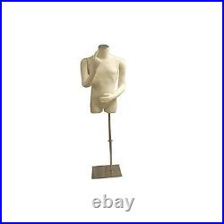 Male Mannequin Body Dress Form #M01arm-JF+BS-05