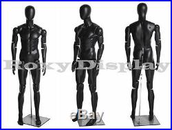Male Mannequin Dress Form Display With flexible head arms and legs #HM01BKEG-MZ