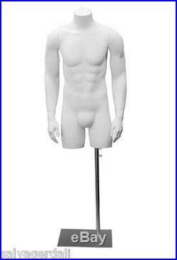 Male Mannequin Dress Form Fiberglass Torso Dummy Retail Clothing Display NEW