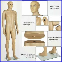 Male Mannequin Full Body Realistic Shop Display Head Turns Form with Base US
