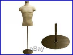 Male Mannequin Manequin Manikin Dress Form #33DD01+BS-04
