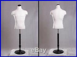Male Mannequin Manequin Manikin Dress Form #33DD01+BS-R02B