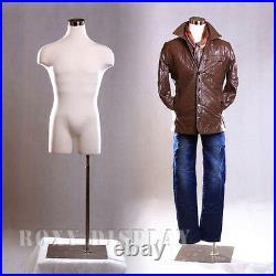 Male Mannequin Manequin Manikin Dress Form #33MLEG01+BS-05