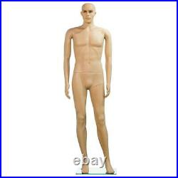 Male Mannequin Plastic Realistic Display Turnable Model Dress Form with Base New