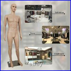 Male Mannequin Torso Dress Form Full Body 73 Inches Adjustable Dress Model DIY