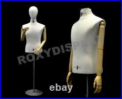 Male Shirt Hard Foam Dress Form with arms and head #JF-33M01ARM-BB+BS-04