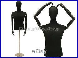 Male Shirt Hard Foam Dress Form with arms and head #JF-33M02ARM+BS-04