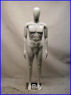 Male Unbreakable Plastic Egghead Mannequin Head can Turns Dress Form #PS-MEG4W