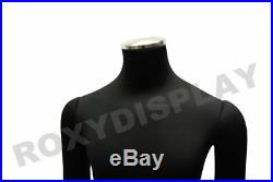 Male full body Poseable Mannequin Black jersey covered body form #JF-M02SOFTX