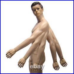 Male mannequin 6FT+ Metal stand, Head turns, Full body, Realistic manikin-YM8-F
