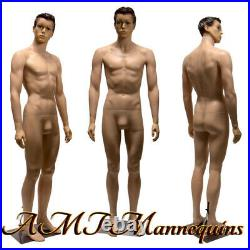Male mannequin 6FT, removable head and arms, skin tone full body manikin-YM8-1F