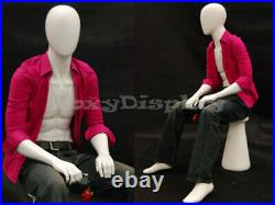 Male mannequin Dress Form Display Sitting Pose #MD-KW15D