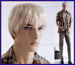 Male mannequin displays pants, military uniform suit, hand made man manikin-Zac