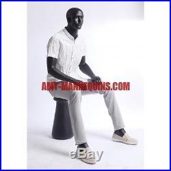 Male mannequin sitting mannequin -Grant+a Pedestal-QT-10-8