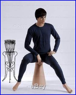 Male mannequin sitting mannequin -Roger + 1 Pedestal