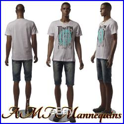 Male mannequins, with removable head, full body African men manikin-W2-2