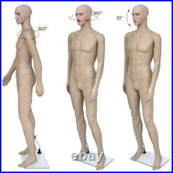 Man Use Male Full Body Realistic Mannequin Display for Dress Form /w Base US