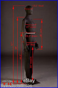 Mannequin, Full size, Flexible, Posable, Black, Female, for Costumes & displays