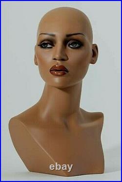 Mannequin Head Female Wig Heads VaudevilleMannequins. Com Briana Black Display