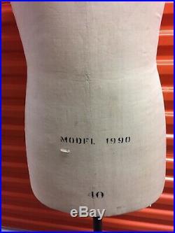 Mannequin Wolf Male Model 1990 Size 40 Vintage Dress Form