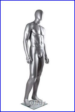 Metallic Silver Male Mannequin