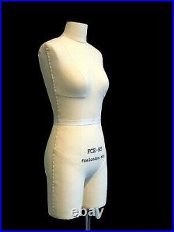 Mini Mannequin Dress Form'Ida' FCE Tailors Dummy Draping Stand Half Scale