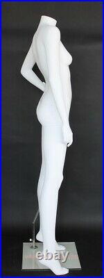 NEW! 5 ft 5 in Headless Female Mannequin Matte White Body Form Torso STW115WT