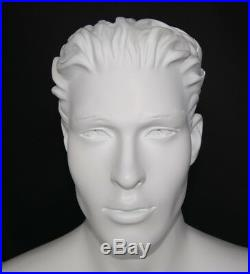 NEW! 5 ft H Male Sitting Mannequin White colored finsihed SFM5WT-PH