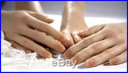 NEW Silicone Female Hand Model Arbitrarily Posed Display Jewelry/Tattoo 1 Pair