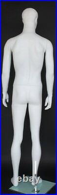 New! 5 ft 10 in Small Size Male Fullsize Mannequin Matte White finish SFM72-WT