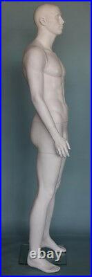 New 6'3 tall White Color finished Male Muscular Mannequin SFM6WT, 40/31/40