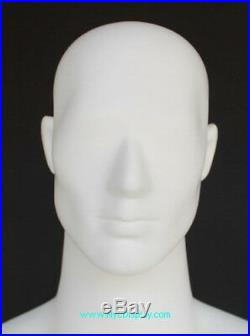 New! 6 ft 4 in H Male Abstract Head Mannequin Muscular Body Matte white SFM67EWT