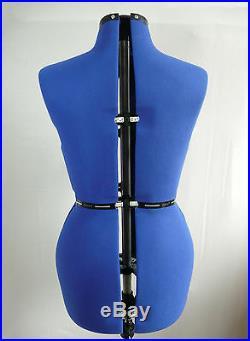 New Adjustable (Size 10-16) Tailor/Dressmaker Dummy Dress Form Mannequin Model