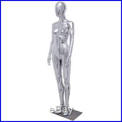 New Female Full Body Mannequin Plastic Abstract Glossy withbase Egg Head