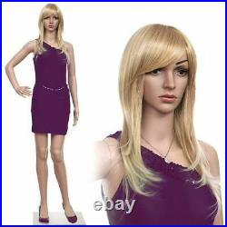 New Female Mannequin Plastic Realistic Display Model with Iron Base