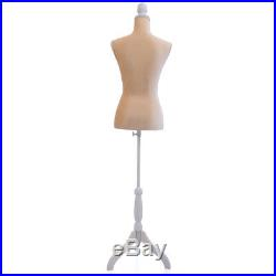 New Female Mannequin Torso Clothing Dress Form Display Tripod Stand