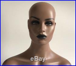New Luxury Realistic Mannequin Head Fiberglass Hat Wig Glasses Mold Stand No. 30